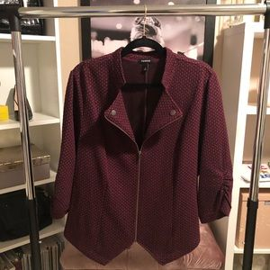 Torrid Purple Jacquard Knit Blazer